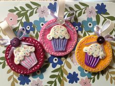 More homemade felt cupcake keyrings