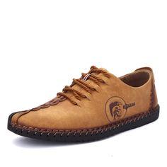 Gracosy # Uomo Scarpe in pelle pattini di affari/ Uomini Oxfords Casual Scarpe /Scarpe stringate basse/ Pattini di sport/ Scarpe Flats British Style con i lacci sandali Scarpe Cap-toe piatte#
