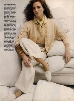 """Classic Differences"" Vogue US, March 1988 Photographer : Elisabeth Novick Models : Susan Miner & Akure Wall"