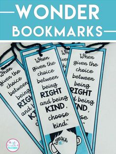 FREE bookmarks. Great gift. Just print, laminate, cut out!