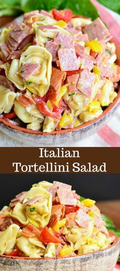 Low Carb Recipes To The Prism Weight Reduction Program Italian Tortellini Salad. Tortellini Salad Loaded With Salami, Capicola Ham, Pepperoni, Fresh Mozzarella Cheese, Homemade Italian Dressing And Much More. Pasta Salad With Tortellini, Tortellini Recipes, Best Pasta Salad, Pasta Salad Italian, Pasta Salad Recipes, Ham Pasta, Fresh Salad Recipes, Lunch Snacks, Easy Delicious Recipes