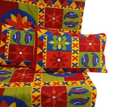 Handcrafted Flat Sheet 3 Pcs Set Indian Decor by RajasthanRoyals, $65.99