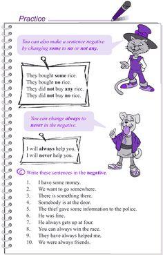 Grade 4 Grammar Lesson 17 Negation (4)