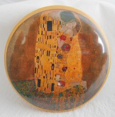 """Button 59 mm  """"Klimt"""" von AnnKara's Queerbeet-Shop auf DaWanda.com"""