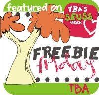 Freebie Friday Seuss Week