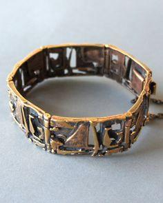 Jorma Laine Bronze Modernist Bracelet