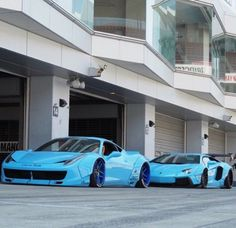 Liberty Walk Ferrari and Lamborghini