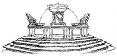 """Roma: """"Fontana di Santa Maria in Trastevere"""" da : a Passeggio per le 100 fontane di roma"""" http://fontanediroma.blogspot.it"""