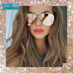 983f548e55a Pink Mirrored Sunglasses. Oversized Aviator Sunglasses ...