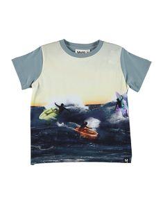 7182696d590 MOLO RADDIX SURFERS PRINT T-SHIRT. #molo #cloth Contrast Collar, Surfers