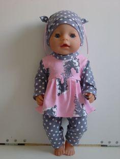 Puppenkleidung-Herbst-Winter-Set-3tlg-f-z-B-BABY-BORN-o-a-42-44cm-Puppen-NEU