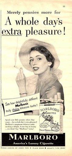 Marlboro Cigarettes Women Smoking (1950)