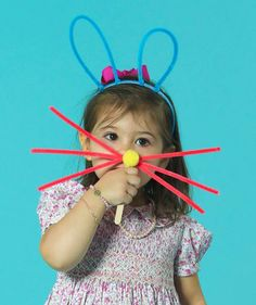 Easy and adorable DIY Easter bunny ears and whiskers.