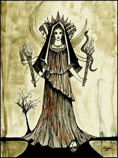 Hekate . The Goddess with three faces . by HeartySpades on DeviantArt