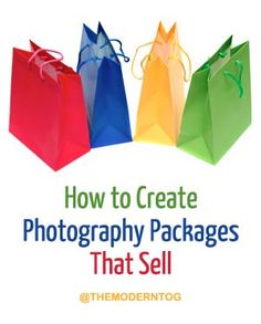 Great advice on how to create photography packages that sell.