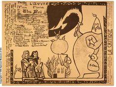 Programme d'Ubu roi d'Alfred Jarry 1896