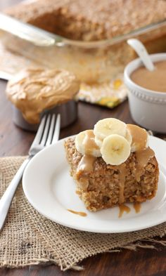 PEANUT BUTTER BANANA BREAD BAKED OATMEAL This is the wonderful result of combining oatmeal's texture with the natural sweetness from bananas and the nutty goodness from lots and lots of peanut butter. Peanut Butter Banana Bread, Peanut Butter Recipes, Almond Butter, Cupcakes, Brunch Recipes, Dessert Recipes, Breakfast Recipes, Baked Oatmeal Recipes, Yummy Treats