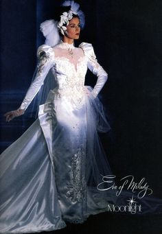 Eve of Milady - My god sister had this dress LOL! Wedding Dress For Boys, Eve Of Milady Wedding Dresses, Types Of Wedding Gowns, Gorgeous Wedding Dress, Wedding Dress Sleeves, Bridal Dresses, Beautiful Dresses, Vintage Gowns, Vintage Bridal