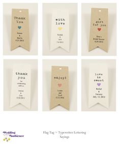 Love is Sweet Favor Tag - Kraft Paper Flag Tag, Pennant Tag - Personalized Favor Tags - Wedding Favor Tags, Bridal Shower Favors, Gift Tag. $11.25, via Etsy.