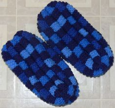 Items similar to Hand Knitted Checkerboard Slippers on Etsy Hand Knitting, Knitting Patterns, Knit Slippers, Pain, Crochet, Couture, Sewing, Crafts, Etsy