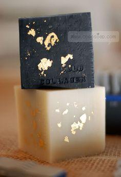 gold leaf soap
