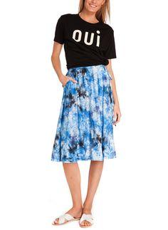 Clare V. Oui T-Shirt / Raquel Allegra Tie Dye Skirt