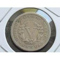 Raridade - Antiga Moeda De 5 Cents U.s.a Para Coleção 1911