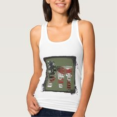USA Military Green American Pvt Private Shirts Tank Tops