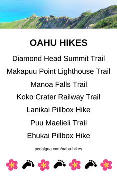 List of Oahu hikes for Hawaii vacation ideas. Things to do on Oahu. Outdoor activities on a budget to save money on day trip adventure from Waikiki or Honolulu, near Kailua, North Shore. Free, cheap. Beaches and snorkeling nearby. Bucket list dream destinations, honeymoon. Tips for what to wear hiking and what to pack for Hawaii packing list. Oahu travel guide. #hawaii #oahu
