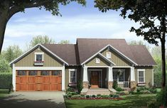This Country House Plan includes 3 bedrooms / 2 baths in 1800 sq ft of living space. Its open floorplan layout is flexible and is ideal for your growing family. Best of all, its designed to be affordable to build and includes all of the most popular features you're looking for in your next home design. #houseplan #dreamhome #HPG-18008 #HousePlanGallery #houseplans #homeplans