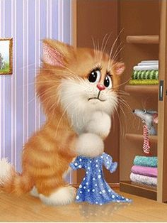 Коты Алексея Долотова — Yandex.Disk Gifs, Crazy Cat Lady, Crazy Cats, Animals And Pets, Cute Animals, Saint Yves, Kitten Cartoon, Cat Cupcakes, All Things Cute