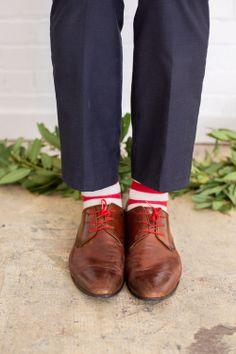 candy cane striped socks