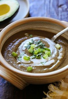 A creamy bowl of lentil soup – made with cumin, cilantro and potato to thicken it is the perfect way to warm up on a cold November night.  When I was a kid, most of our meals started with a bowl of soup. Lentil soup was often on the menu; because I was such a picky eater, the only way Mom got me to eat it was by pureeing it in the blender – I loved it!  As an adult, I'm no longer picky and I love lentils every which way, but I still find a bowl of this creamy pureed soup comforting…