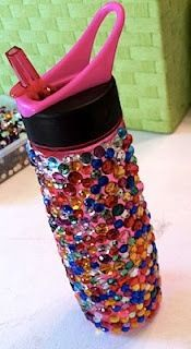 #spiritaccessories #cheer water bottles can easily be bedazzled like this! #diy