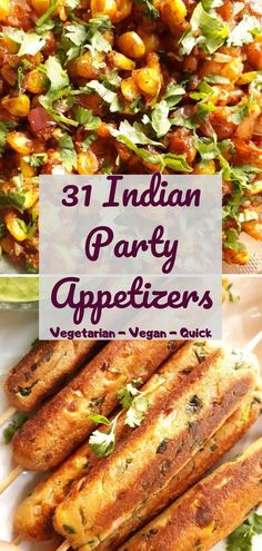 Get recipes of 31 Quick & easy Indian party appetizers. These are vegetarian appetizers or snacks. It includes, chats, kababs, cutlets, pakoda or fritters. All appetizers are delectable and most… Veg Appetizers, Indian Appetizers, Party Appetizer Recipes, Vegetarian Starters, Tea Time Snacks, Snacks For Evening, Snacks For Party, Evening Snacks Indian, Kid Friendly Meals