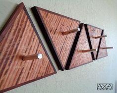 Geometric Wall Hooks Geometric Shelves Hat Rack Modern Industrial Coat Rack Reclaimed Wall Art geometric wall art triangle shelf (12.00 USD) by AXAhandcrafted