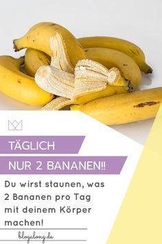 Iss täglich nur 2 Bananen und sieh, was mit deinem Körper passiert #bananen #gesund #abnehmen #gewicht #gesundheit #blogalong