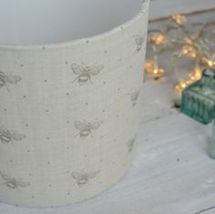 Dove Just Bees Handmade Linen Lampshade