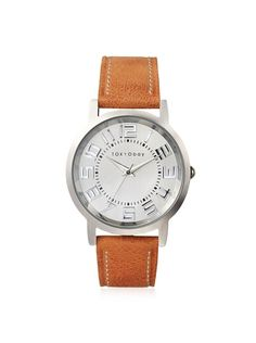 TOKYObay Women's T135-OR Platform Orange/White Brass-Plated Watch at MYHABIT Stitching Leather, Omega Watch, Cool Style, Plating, Brass, Jewels, Watches, Platform, Womens Fashion