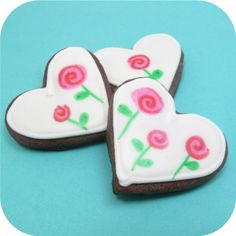 """Chocolate sugar cookie   I love, love, LOVE this gal's website """"thedecoratedcookie.com"""".  She has TONS of great cookie decorating ideas!  I especially want to try her chocolate sugar cookie recipe for Christmas decorated cookies!  Oh yeah!"""