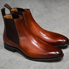 Carlos Santos Chelsea boots in Braga patina in stock Leather Chelsea Boots, Leather Boots, Men's Shoes, Dress Shoes, Shoes Men, Vans Classic Old Skool, Safety Work Boots, Mens Boots Fashion, Italian Shoes