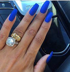 Matte Blue Nails Butler Please by Essie