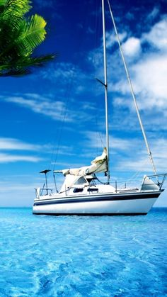 Yacht On The Sea Wallpaper - Free iPhone Wallpapers Yacht Boat, Dinghy, Used Boats, Sail Away, Set Sail, Power Boats, Tall Ships, Water Crafts, Fishing Boats