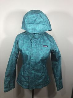 Ladies Patagonia Hooded Jacket Small Blue   | eBay Patagonia, Hooded Jacket, Hoods, Rain Jacket, Windbreaker, Clothes For Women, Lady, Coat, Jackets