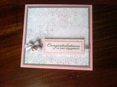 Engagement card.