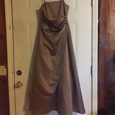 David's bridal Bronze colored David's Bridal dress.  Gorgeous dress for any special occasion. Size 14 David's Bridal Dresses Maxi