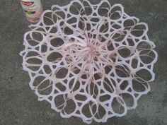 6 Pack Snow Flake Snowflake made from soda six pack rings! Christmas Snowflakes, Christmas Holidays, Christmas Decorations, Xmas, Christmas Wreaths, Merry Christmas, Christmas Ornaments, Christmas Projects, Holiday Crafts