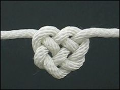 Heart knot how to - Click image to find more DIY & Crafts Pinterest pins