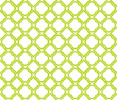 Tango Trellis Kiwi and White fabric by lulabelle on Spoonflower - custom fabric