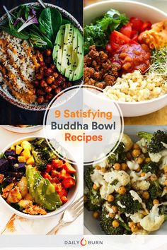 Buddha bowl recipes are the perfect meatless meal for one, featuring raw or roasted veggies, beans, brown rice and sometimes, fish.  via @dailyburn